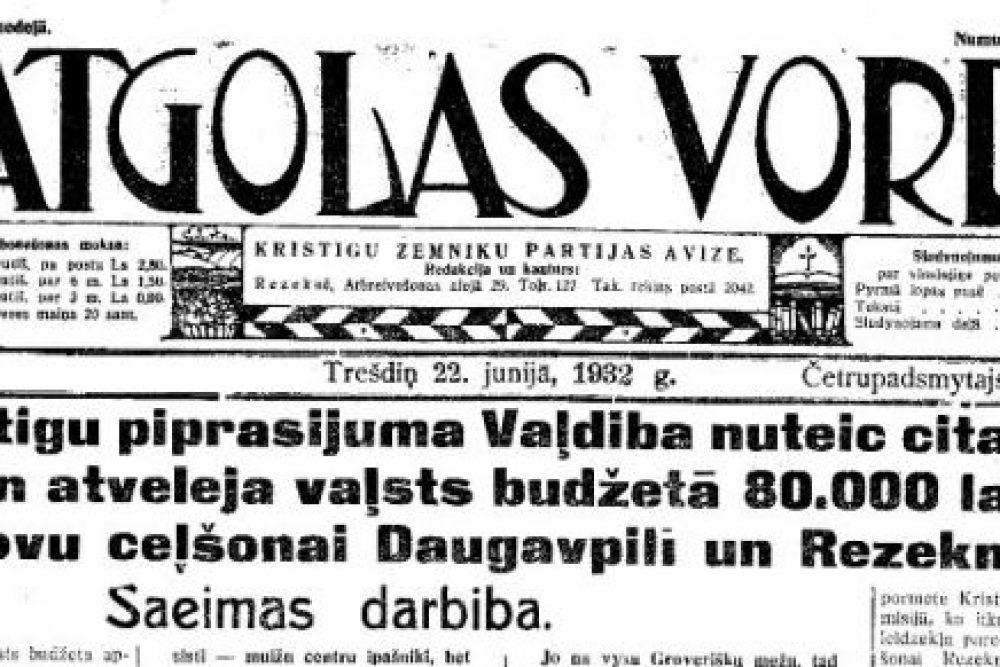Cukra batviņu ratynuošonys – revēšonys saceikstis /Vacūs gazetu viests