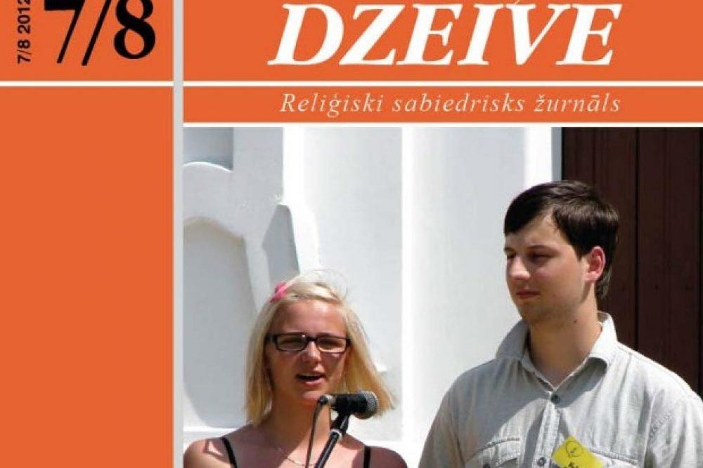 """Kū skaiteisim žurnala """"Katōļu Dzeive"""" augusta numurā"""