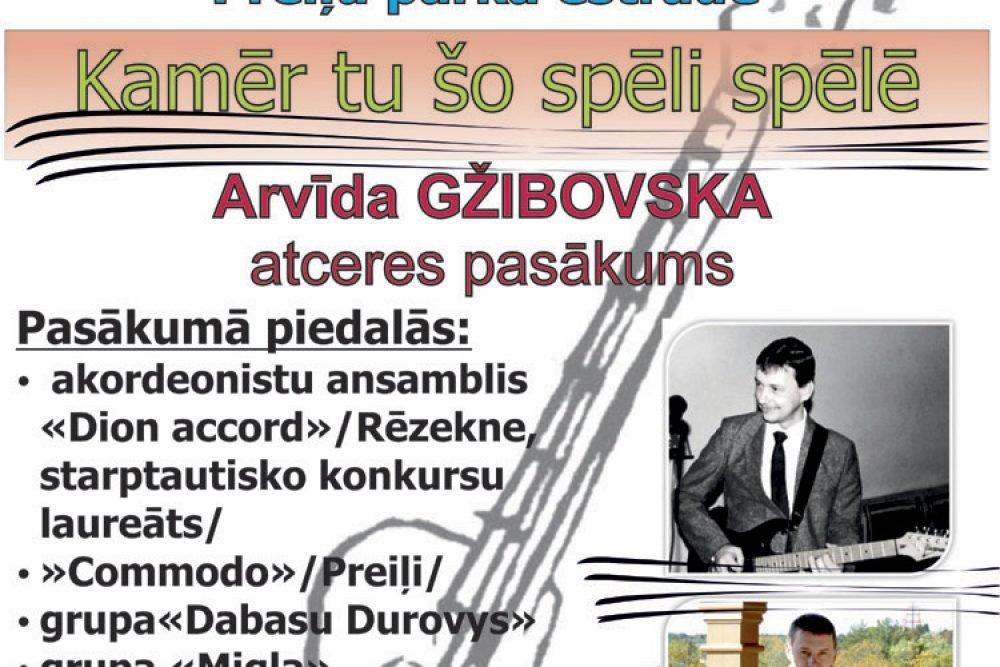 Preiļūs ar koncertu pīminēs Arvīdu Gžibovski