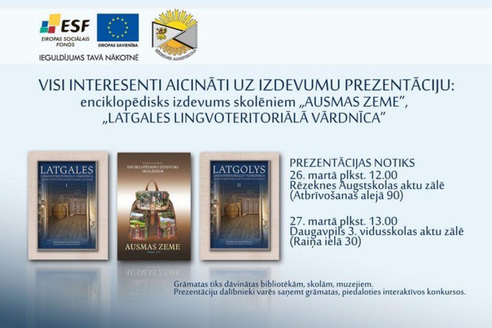 Rēzeknis Augstškola prezentēs sovus izdavumus Latgolā