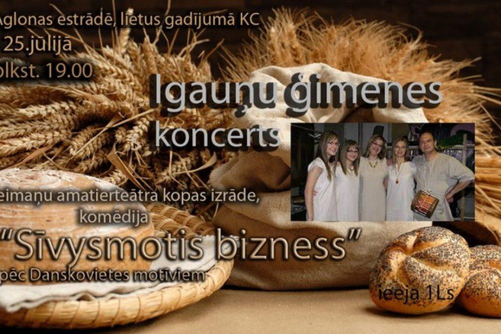 """Aglyunā byus Igauņu saimis koncerts i komedeja """"Sīvysmuotis bizness"""""""