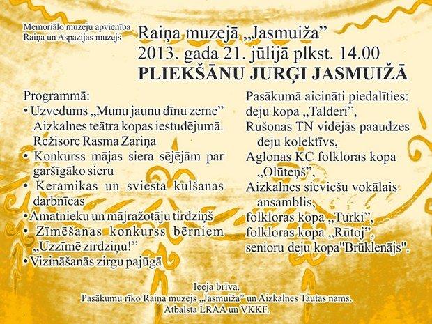 Plieksanu Jurgi Jasmuiza 2013