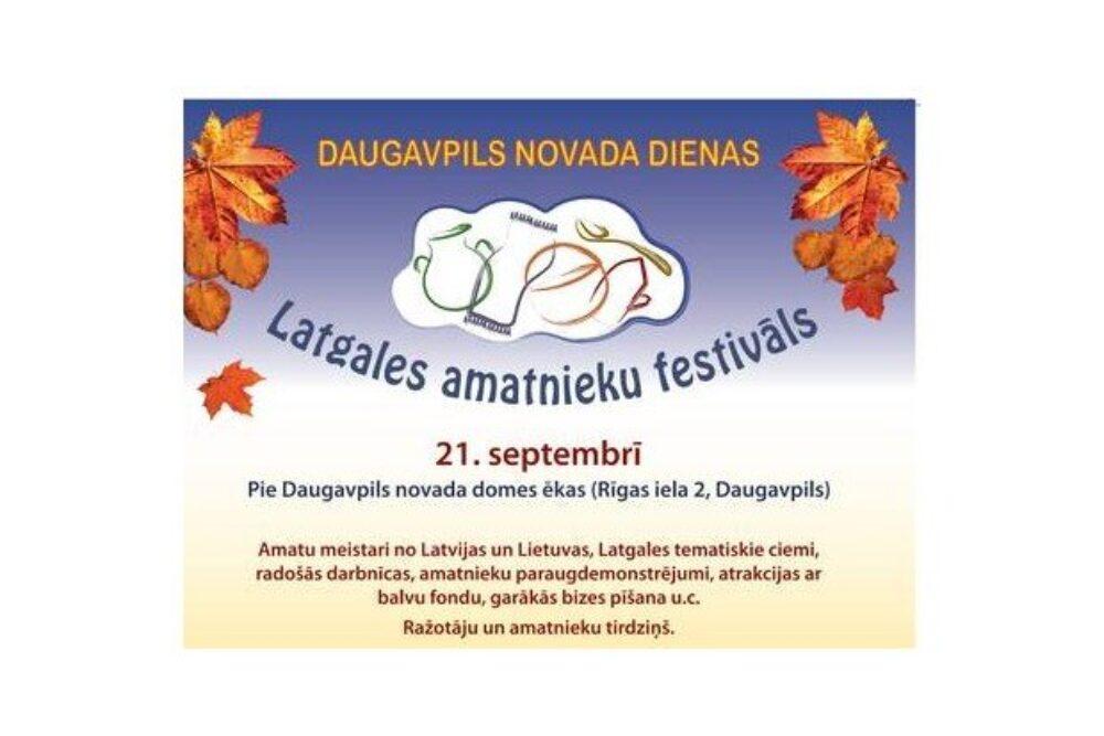 Daugavpilī nūtiks Latgolys amatnīku festivals