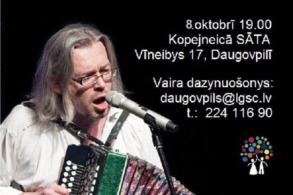 """Muzyka i sarunys ar Artūru Uškānu kopejneicā """"Sāta"""""""