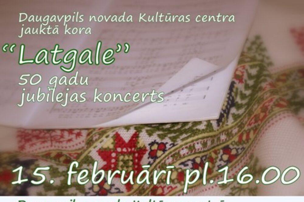 "Jauktuo kora ""Latgale"" 50 godu jubilejis koncerts"