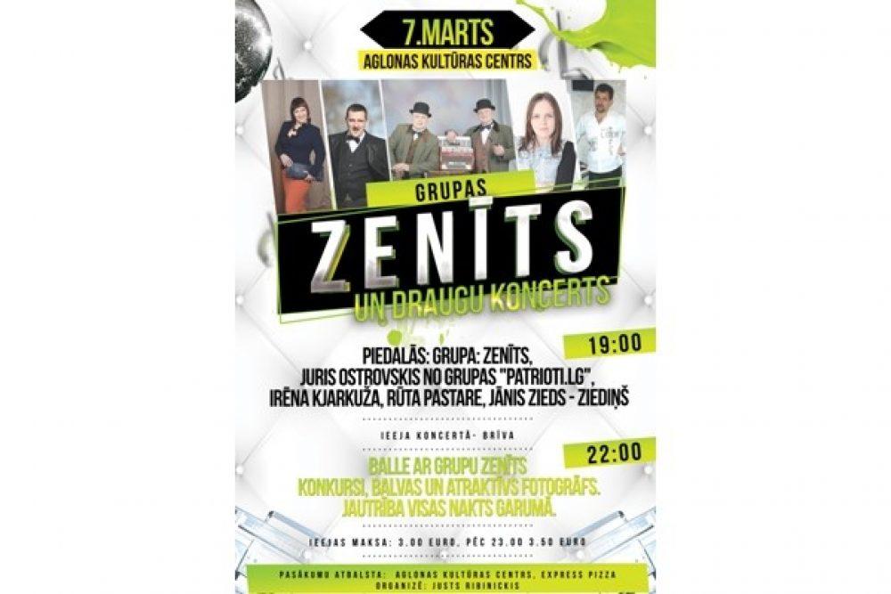 "Grupys ""Zenīts"" i draugu koncerts Aglyunā"