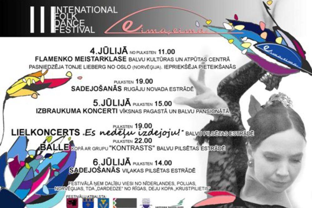 """Bolvūs nūtiks storptautiskais tautys deju festivals """"Eima, eima!"""""""