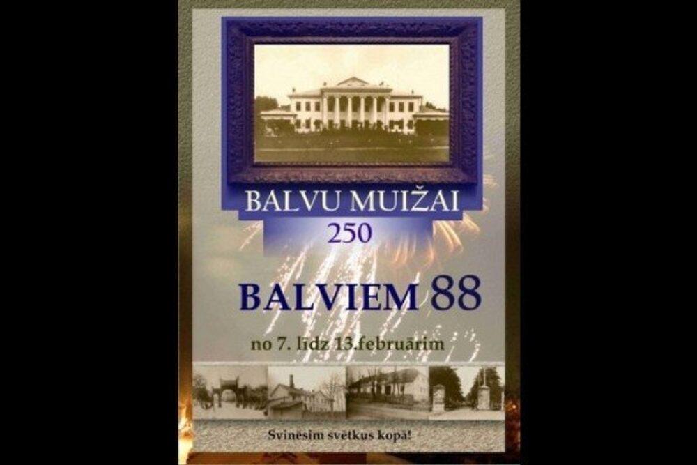 Itūnedeļ teik svieteits Bolvu muižys 250. jubilejs