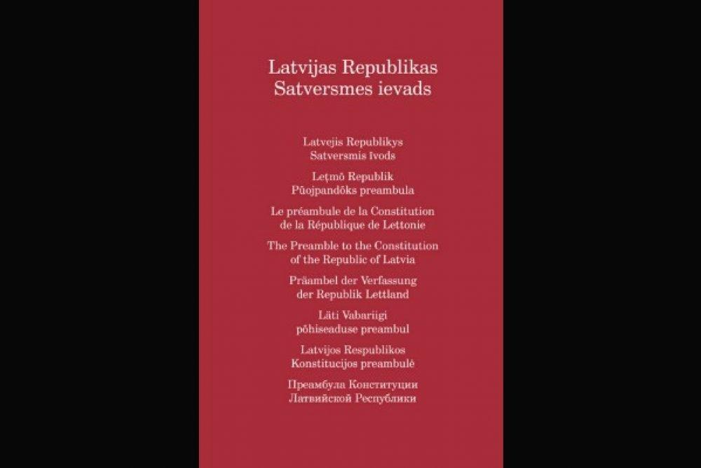 Satversmis preambula izdūta ari latgaliski