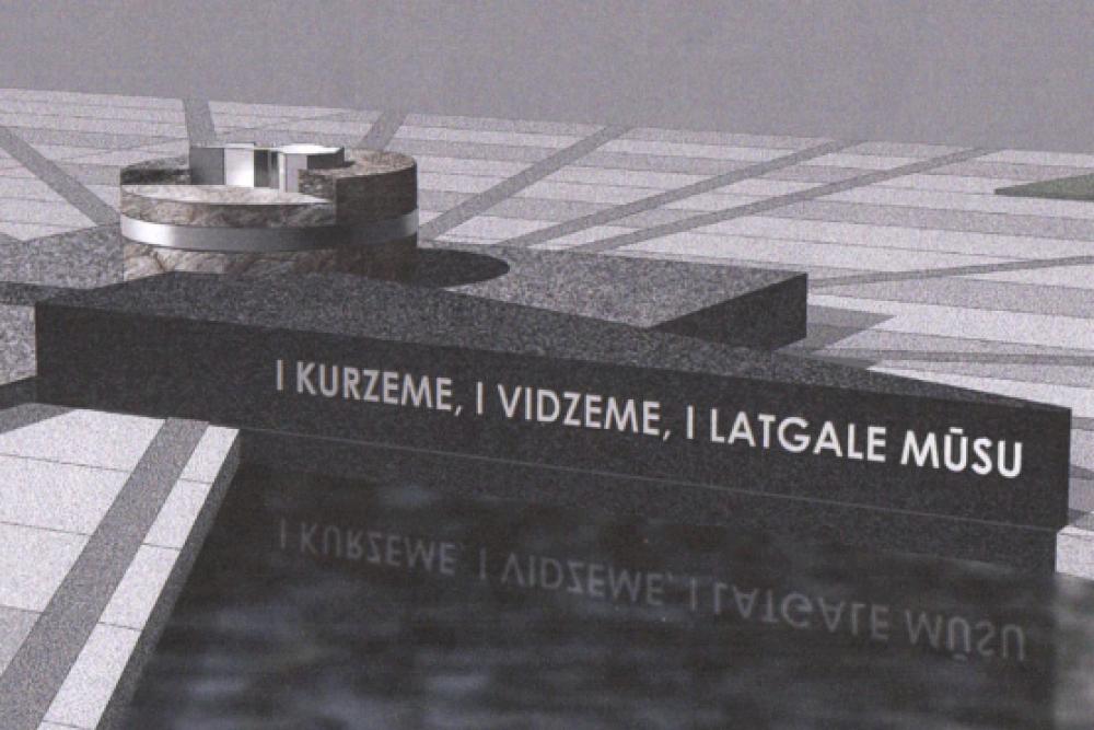 """""""Pi myusim Latgolā"""" viestej par Latgolys kongresa symtgadis pīminekli"""