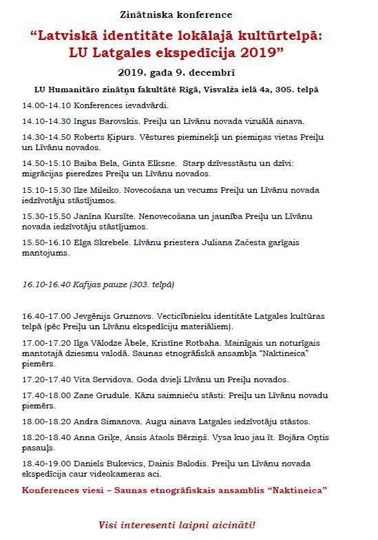 Zynuotniskuo konference par ekspediceju Latgolā @ LU Humanitarūs zynuotņu fakultate