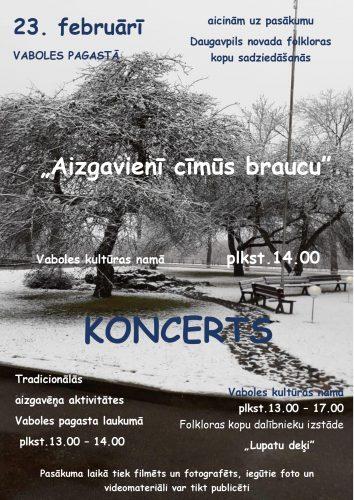 """Koncerts """"Aizgavienī cīmūs braucu"""" @ Vabalis KN"""