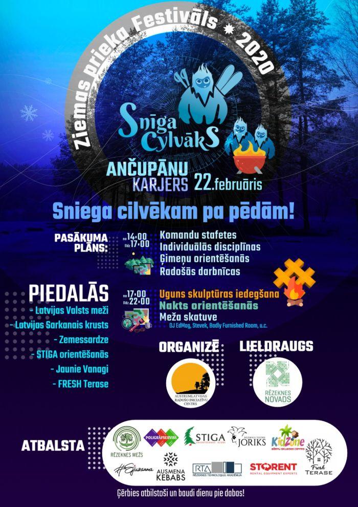 """Festivals """"Snīga cylvāks"""" @ Ančupānu karjers"""