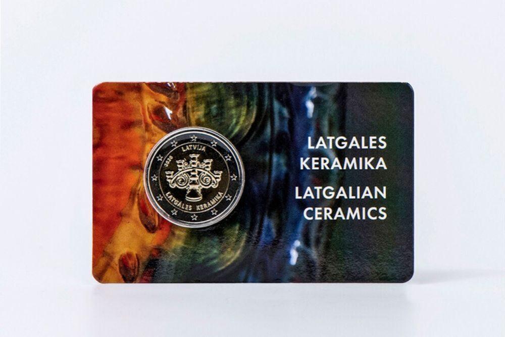 "Latvejis banka izlaiss pīminis monetu ""Latgales keramika"""