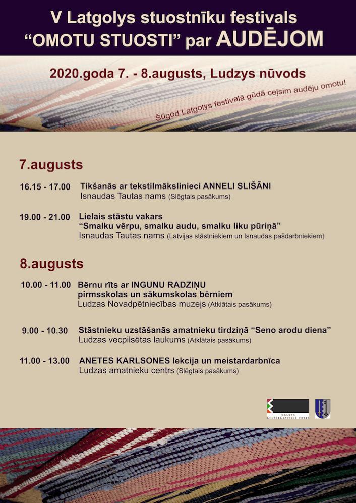 """Stuostnīku festivals """"Omotu stuosti"""" @ Isnaudys Tautys noms, Ludzys nūvods"""