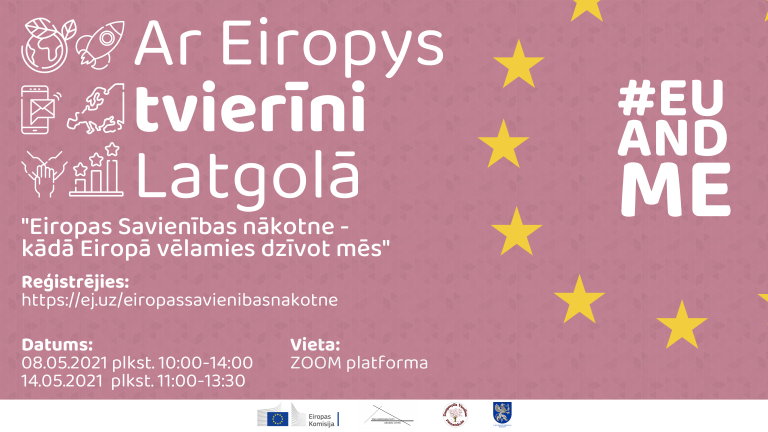 """Diskuseju cikls """"Ar Eiropys tvierīni Latgolā"""" 2021 @ Zoom"""