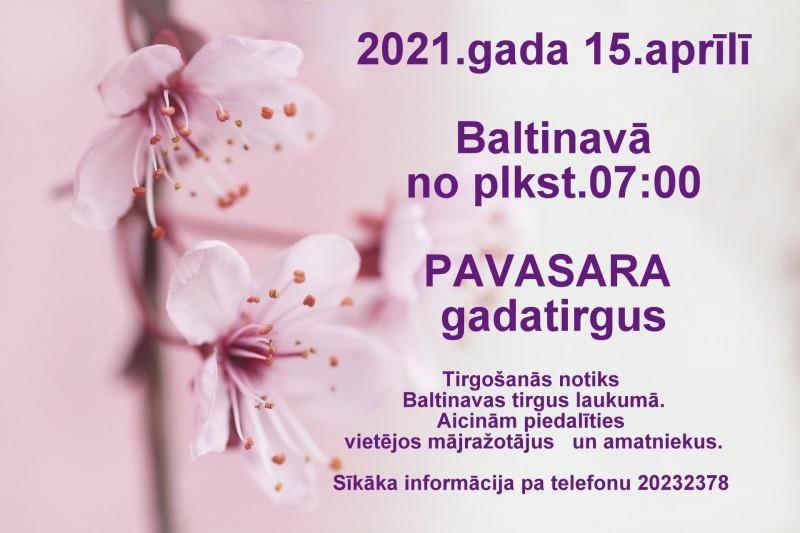 Pavasara godatiergs Baļtinovā @ Baļtinovys tierga placs
