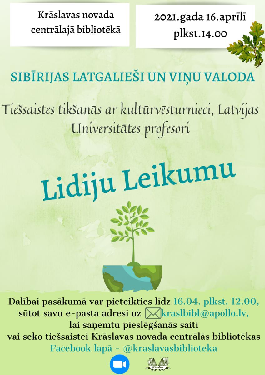 """Profesoris Lidejis Leikumys lekceja """"Sibīrijas latgalieši un viņu valoda"""" @ Tīšsaitē"""