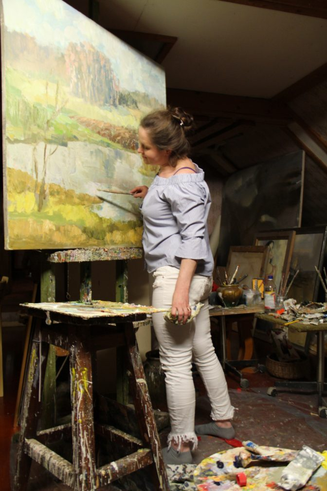"""Gundegys Rancānis gleznu izstuode """"Klātesot"""" @ Latgolys Kulturviesturis muzejs"""