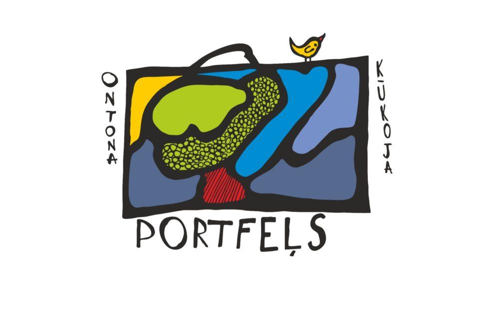 """Konkursam """"Ontona Kūkoja portfeļs"""" niu ir sovs logo"""