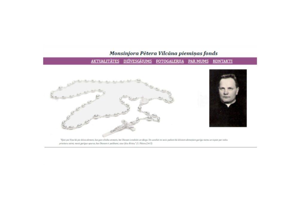 Kas taids ir i kū dora Monsinjora Pītera Vilcāna pīminis fonds