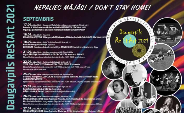 "X Muzykys i muokslys festivals ""Daugavpils ReStArt 2021"" @ Daugovpiļs"